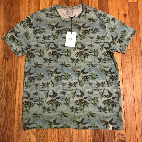 8a9141fae19 Lucky Brand Palm Tree T Shirt Size Large. NWT